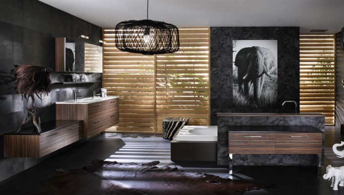Dark and Tempting Bathroom Interior Theme
