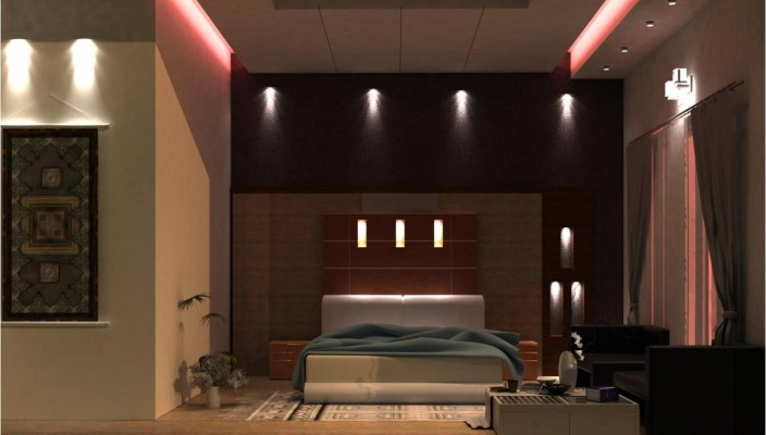 Bedroom idea with lighting ideas