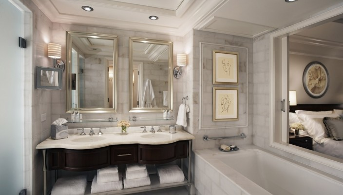 White Themed Bathroom Idea for Modern Interiors