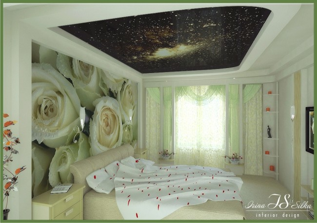 Interior for bedroom designed with posters