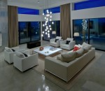Urban living room design with effective lighting