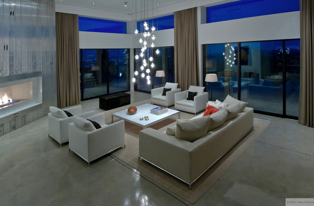 Interior Exterior Plan | Urban Living Room Design With Effective Lighting