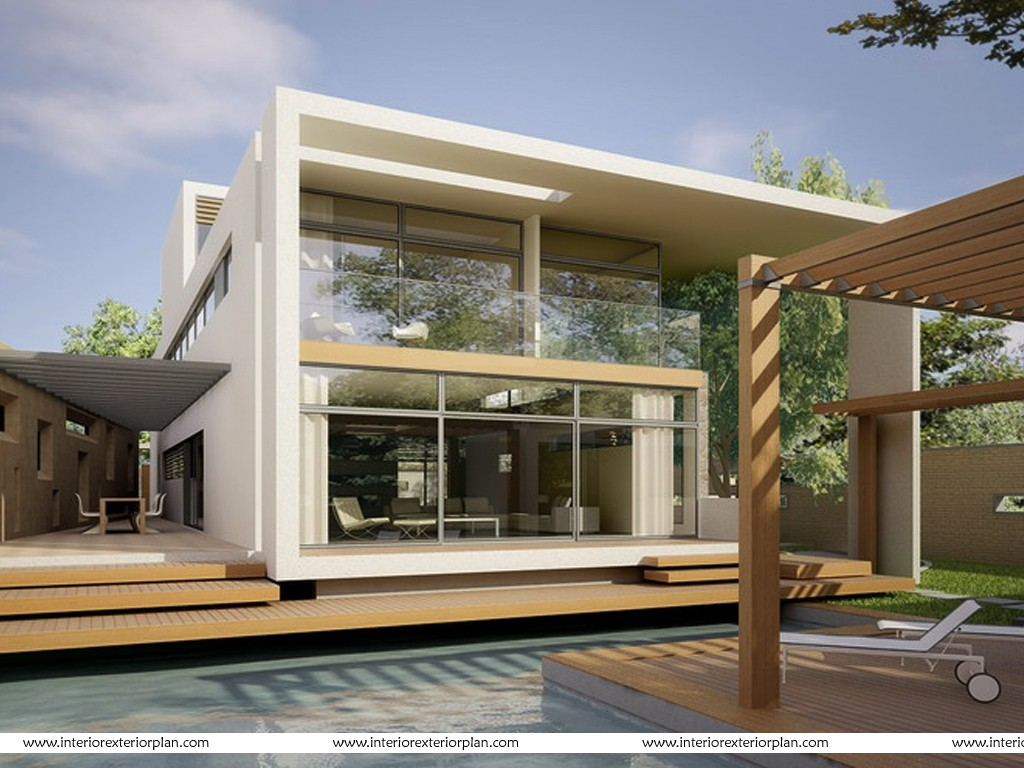 Interior exterior plan a tryst with technology for Home exterior design india residence houses