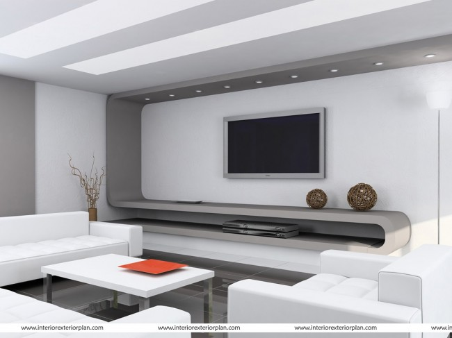A pure metallic finish to the living room
