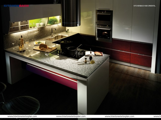 Dark yet pleasing kitchen