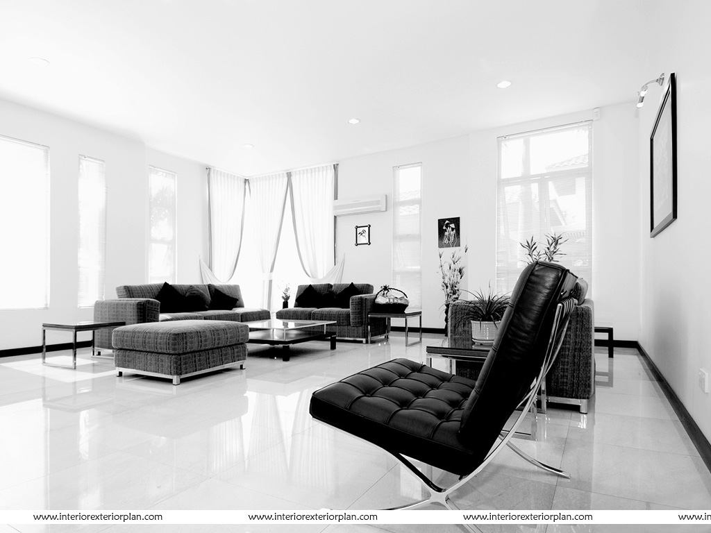 Interior Exterior Plan | Black and White perfect combination for the ...