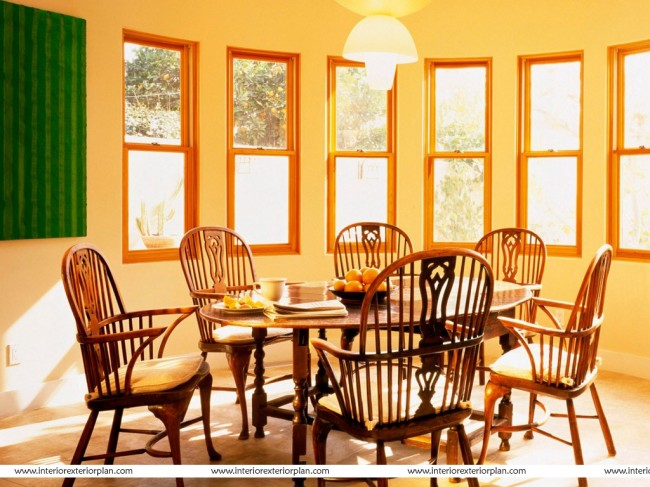 Bright and light aspect of dining area