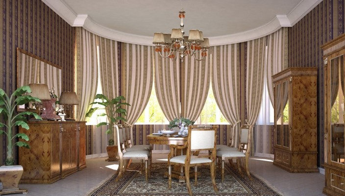 Oval Dining Room Design