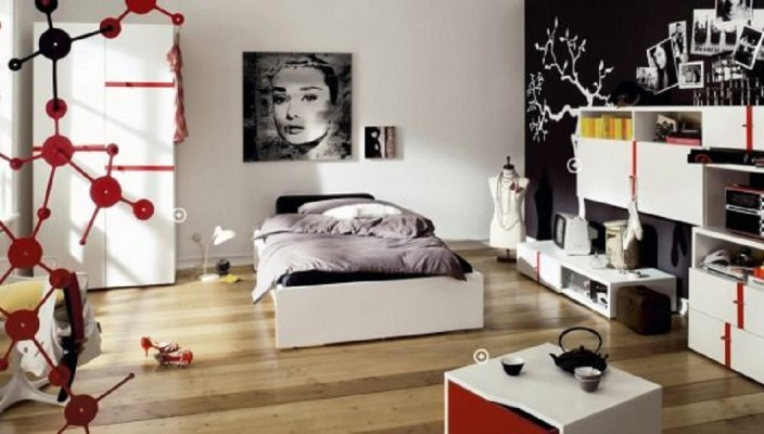 Trendy and Stylish Teenage Bedroom Concept