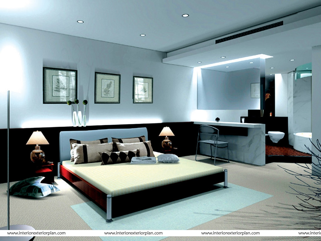 Interior exterior plan no frills bedroom design for Interior bed design images