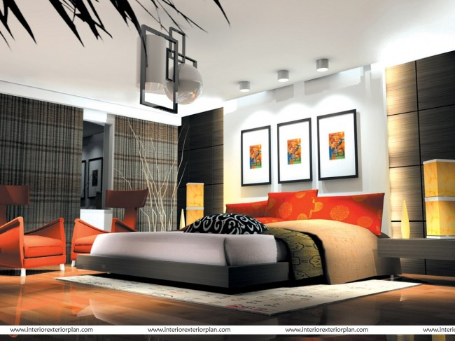 A contemporary bedroom design