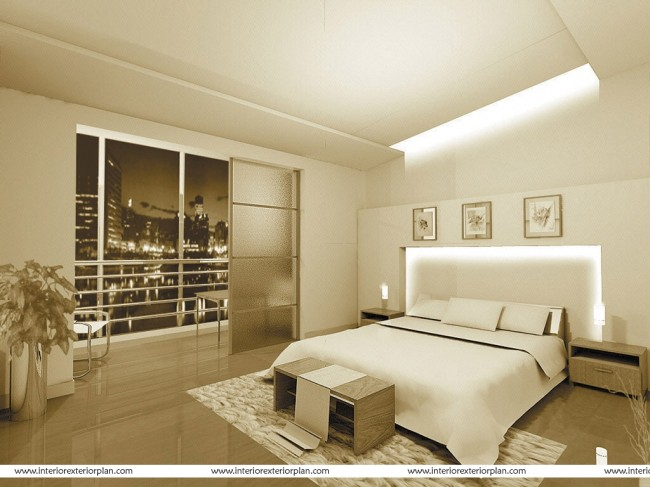Serene Confines of a soothing bedroom