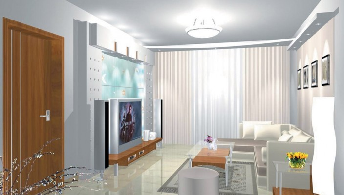 Glassy Feel Living Room Design