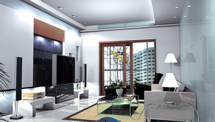 High Rise Living Room Design