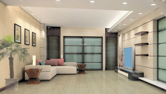 Wide Angled Living Room Design