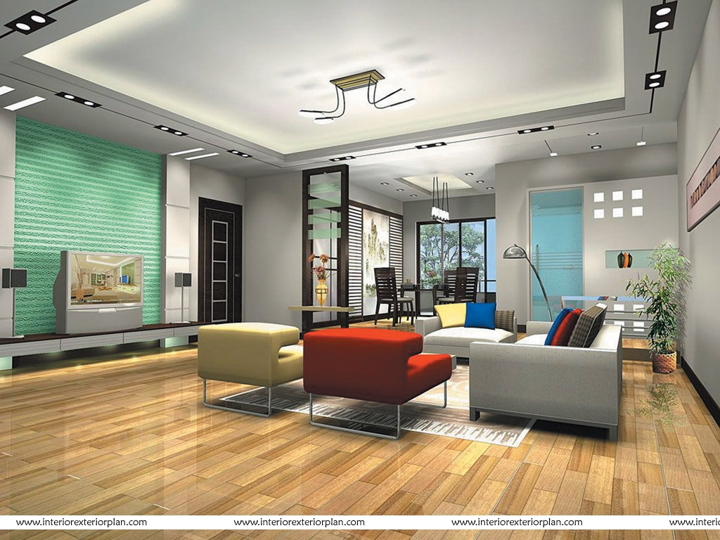 Interior exterior plan contemporary living room design for Drawing room interior