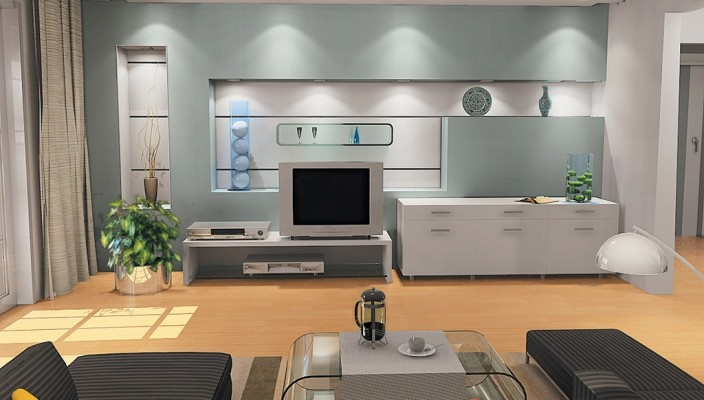 Silver Grey Living Room Design