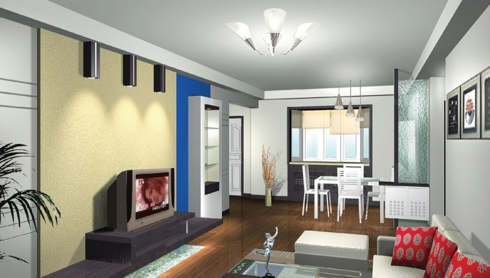 Mixed Color Scheme - Living Room Design