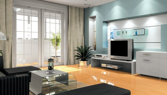 New age living room design