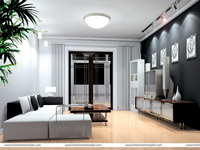 Living room with optimal use of space