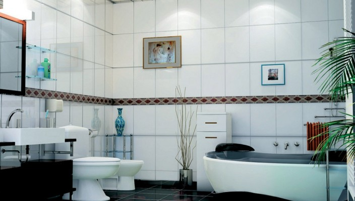Inspiring decorative bathroom