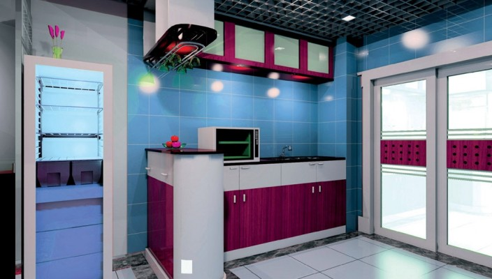 Blue Kitchen Interior Design - A Different Take