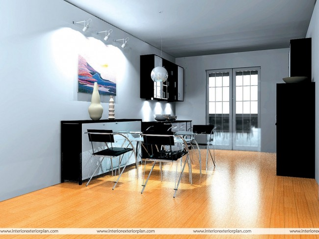 Dining coupled with a kitchenette