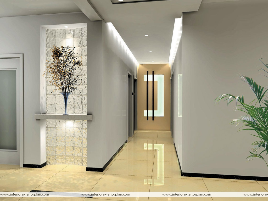 Interior exterior plan corridor type house interior design for Home plans with interior pictures