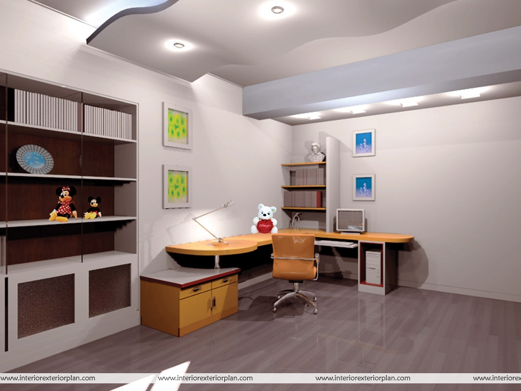 7 Inspiring Kid Room Color Options For Your Little Ones: Quiet Place To Work - Kids Study Room
