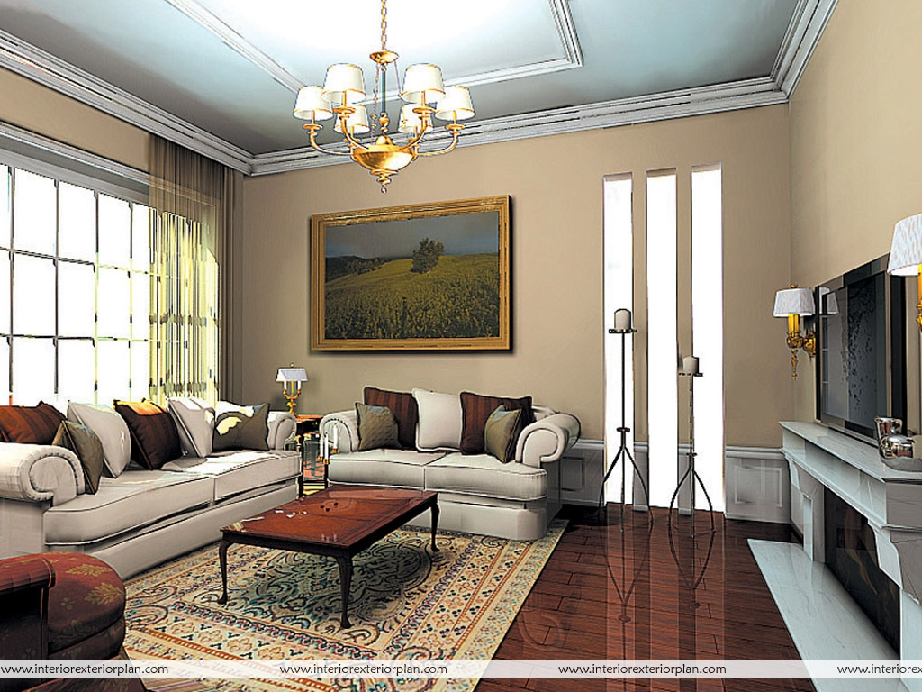 Interior exterior plan a true contemporary and classy for Drawing room