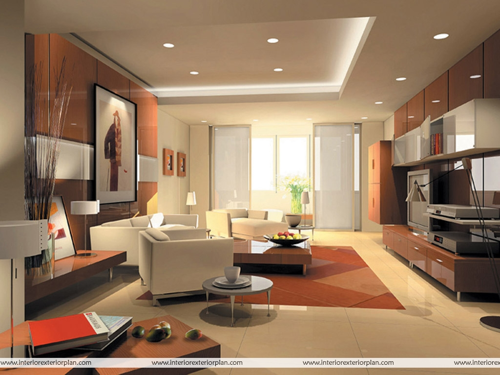Interior exterior plan grace in contemporary look for Images of living room designs