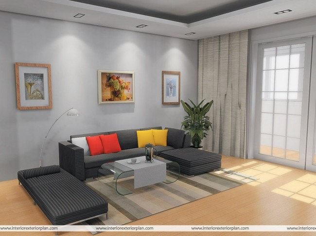 Simple and uncluttered living room design