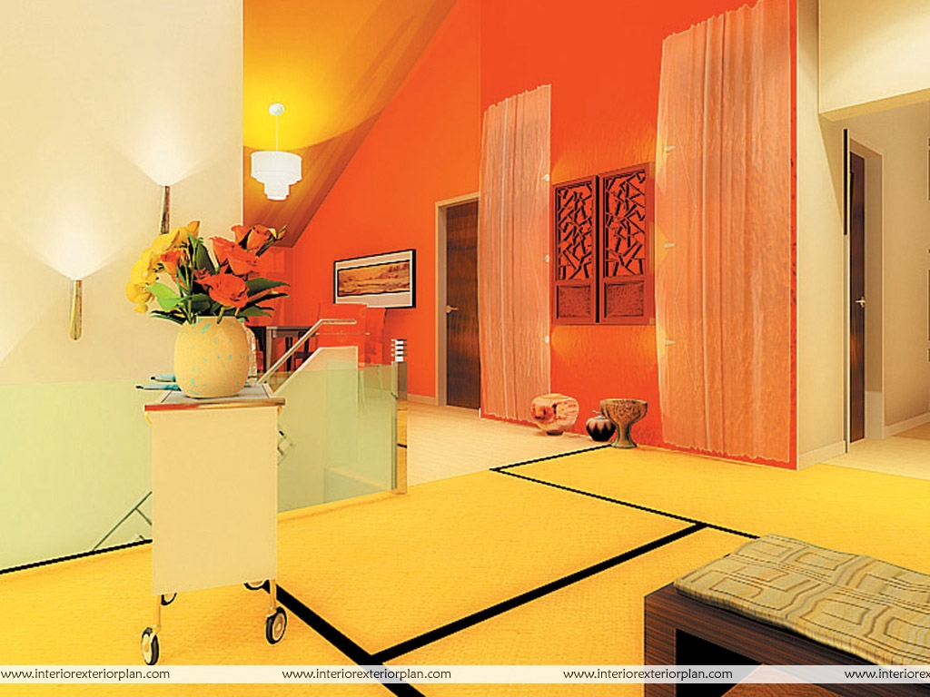 Living Room In Warm Shades Of Vibrant Colours Part 56