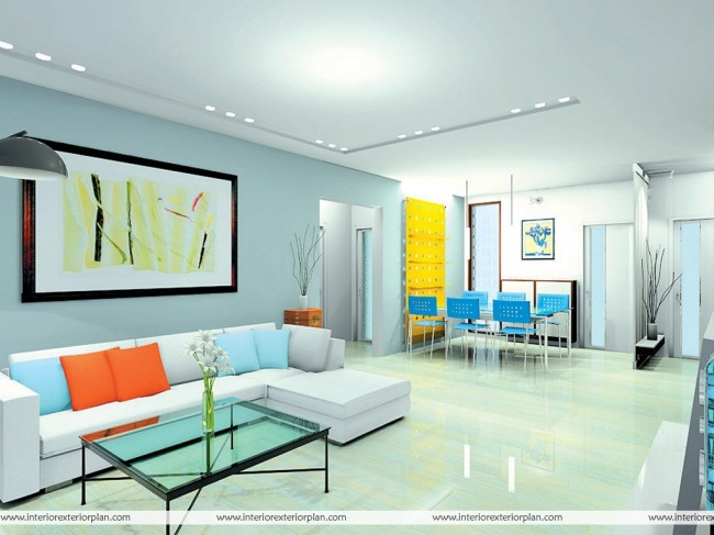 Multicolored Living Room