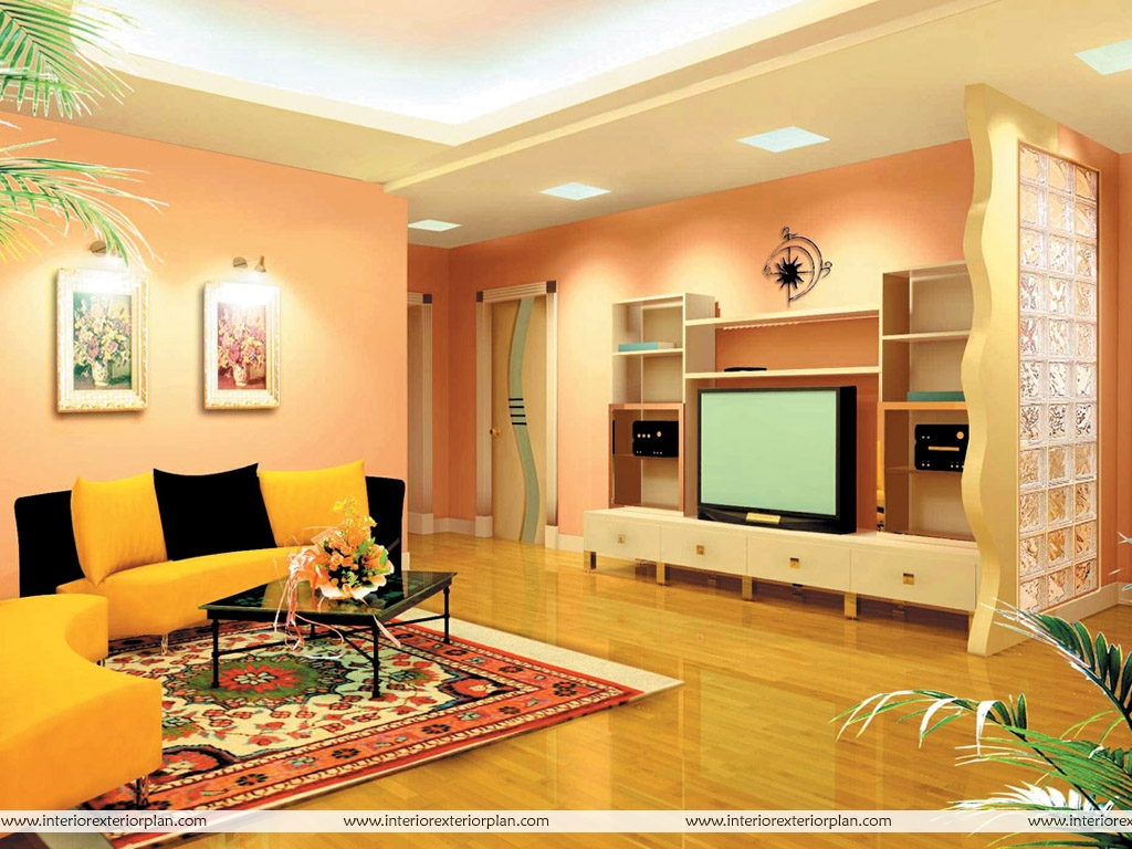 Interior exterior plan magnificent living room with for Color designs for living room