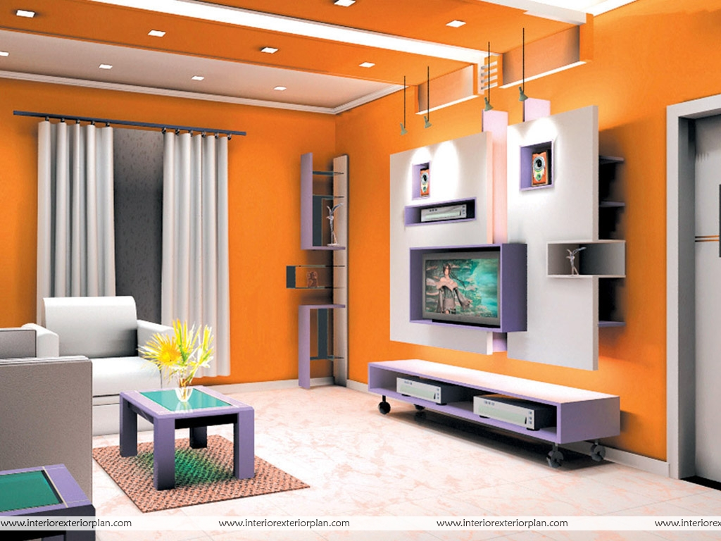 Interior exterior plan orange beauty at its best for Drawing room interior design photos
