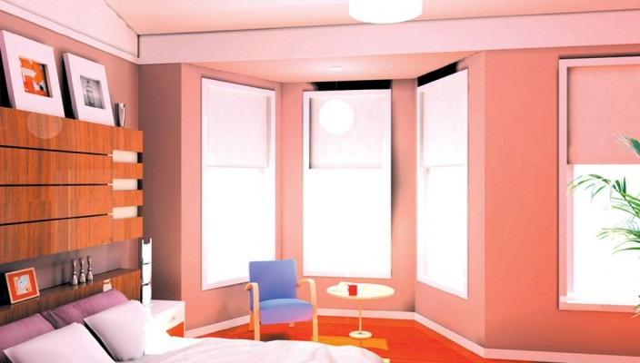 Bedroom with Eye Catchy Colors