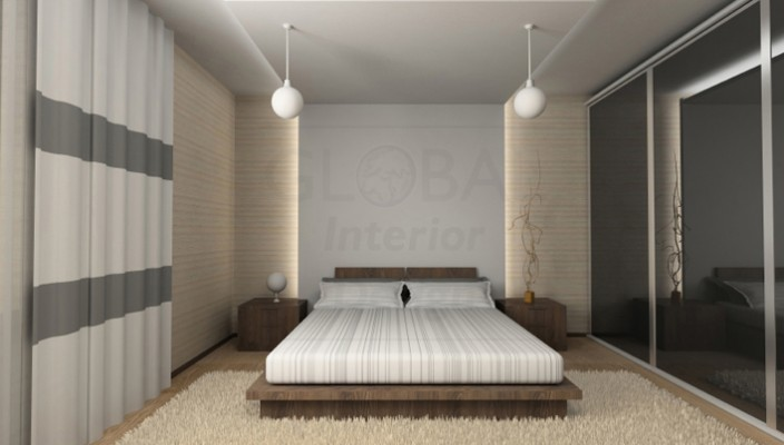Interior design of a bedroom