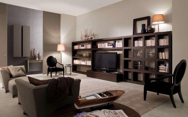 Elegant and subtle taste in living room