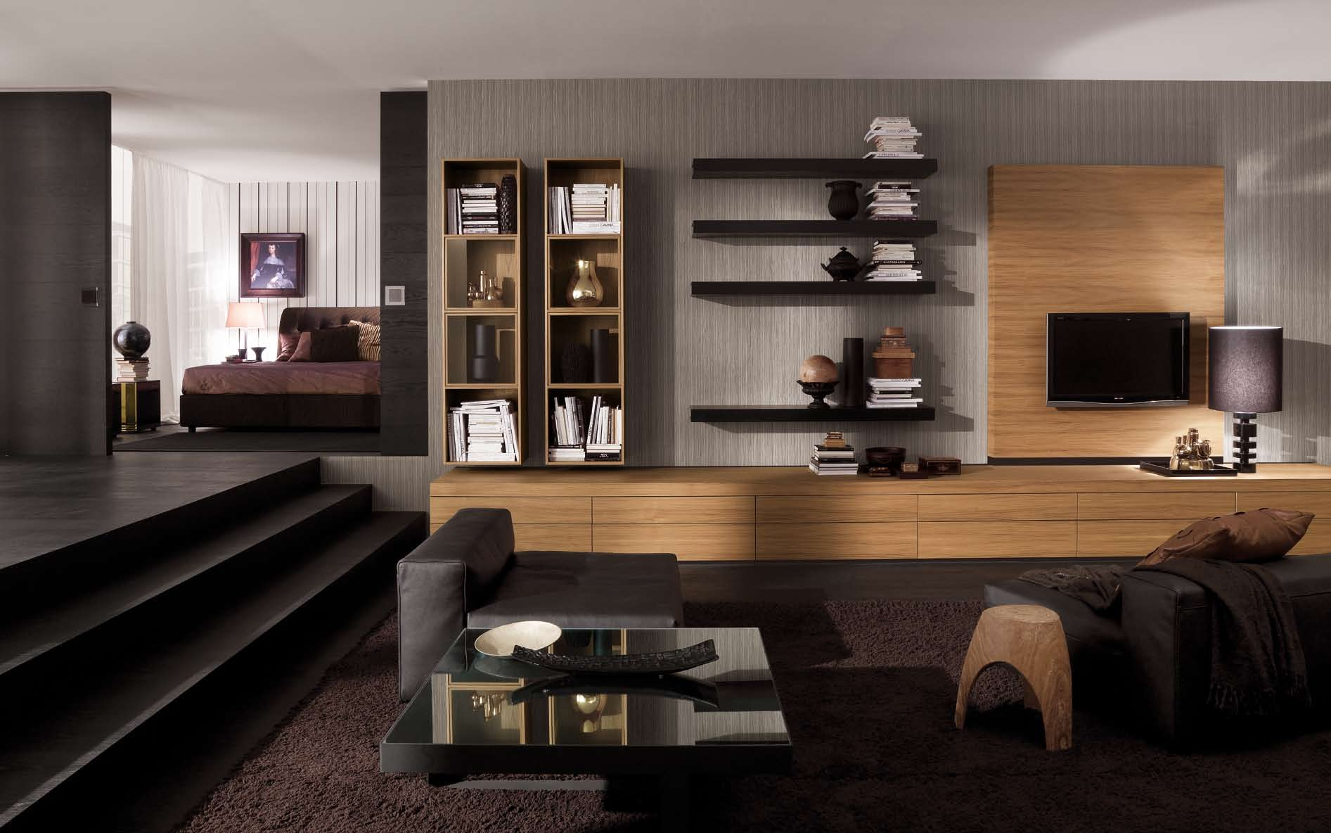 luxurious and splendid shelves for living room decorations.  Interior Exterior Plan A living room of ecstacy