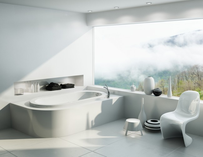 Relaxation in white with beautiful decor