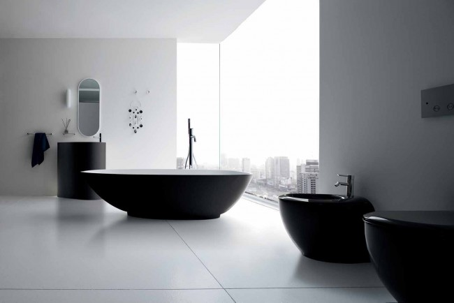Contemporary Basic Colored Bathroom
