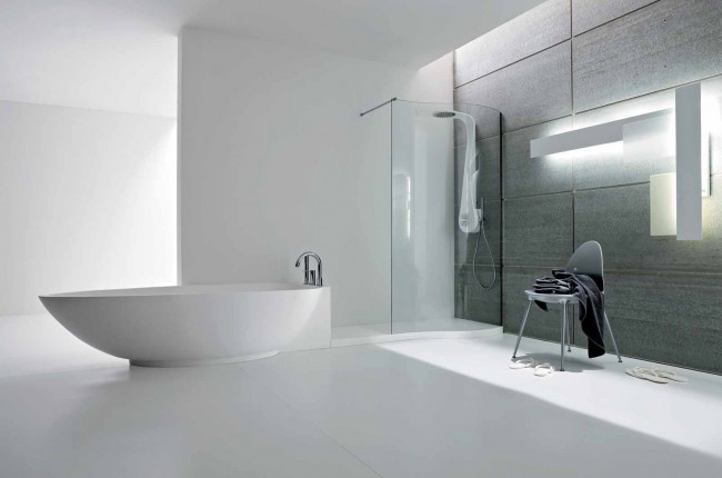 Graceful Ambience with Modernistic Shower Panel