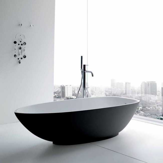 Floor Standing Oval Shaped Bath-Tub