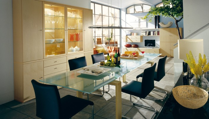A homely dining room for the family
