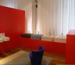 Red royalty bathroom