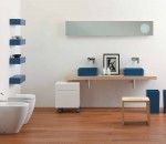 Give a sober blue touch to your bathroom