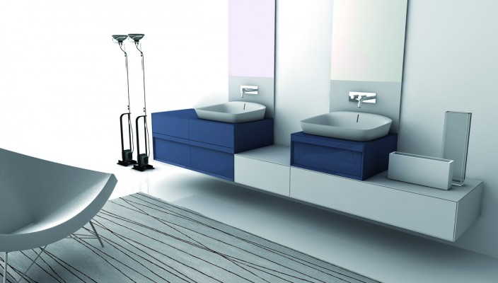Smart Bathroom Concept with Twin Wash Basins