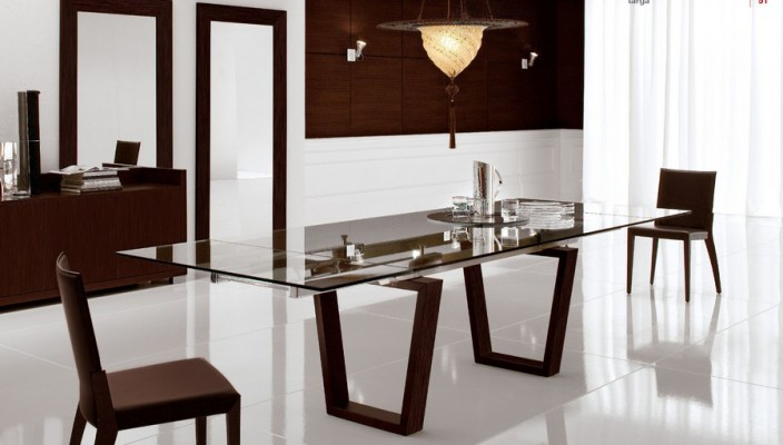 Dining in classic white
