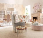 Use pink and white color for airy and light feeling